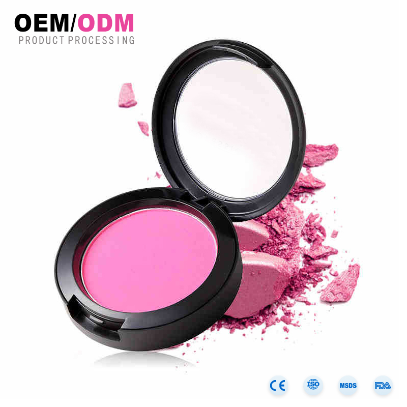 OEM Face Makeup private label longlasting waterproof blush single colors matte cardboard blusher